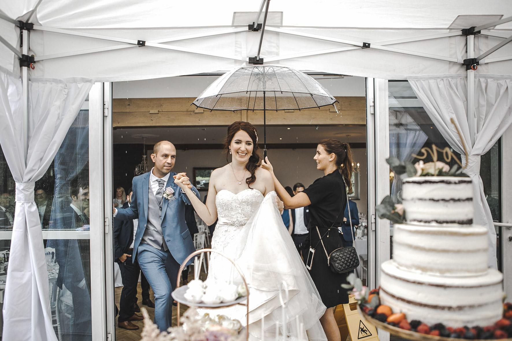 Regen Hochzeit Glanzmomente
