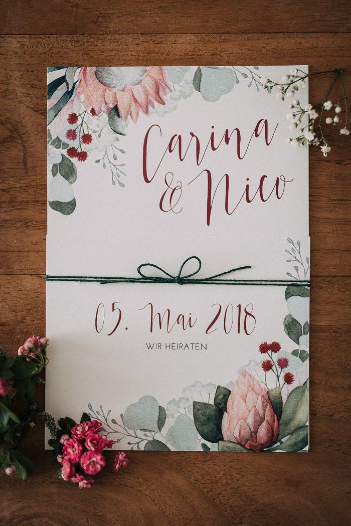 Glanzmomente-Hochzeitseinladung